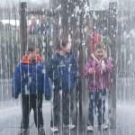 Having fun in the fountain