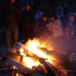 Party around the campfire