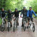 Ready for the mountain biking leg