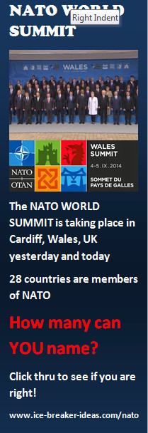 NATO Meetings Ice Breaker Game